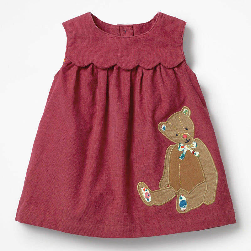 Dress cotton embroidered girls
