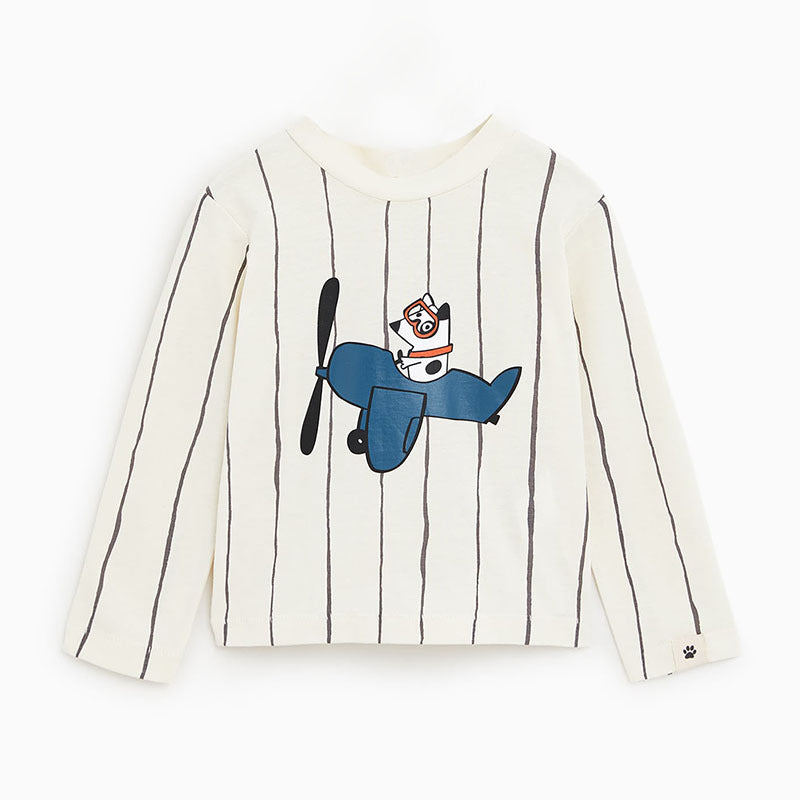 Shirt Children's long-sleeved boy's cartoon round neck