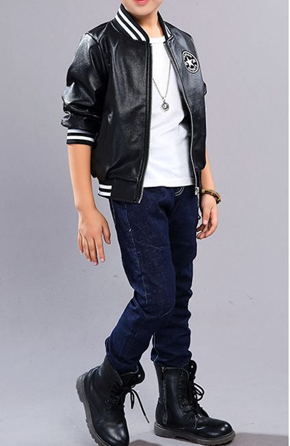 Casual Jacket Children's Leather