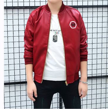 Boy's jacket leather