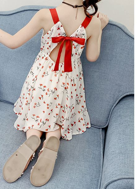 Chiffon dress girls strap princess