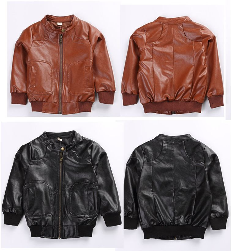 Children's clothing leather jacket