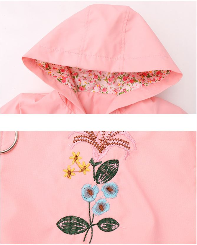 Girls coats casual jackets floral