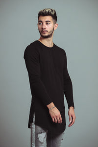 TEE-SHIRT LONG - BLACK