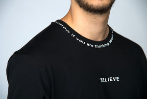 TEE-SHIRT BELIEVE - NOIR