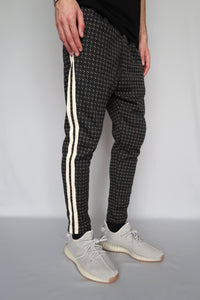 TRACKPANTS MOTIF - CREME/NOIR