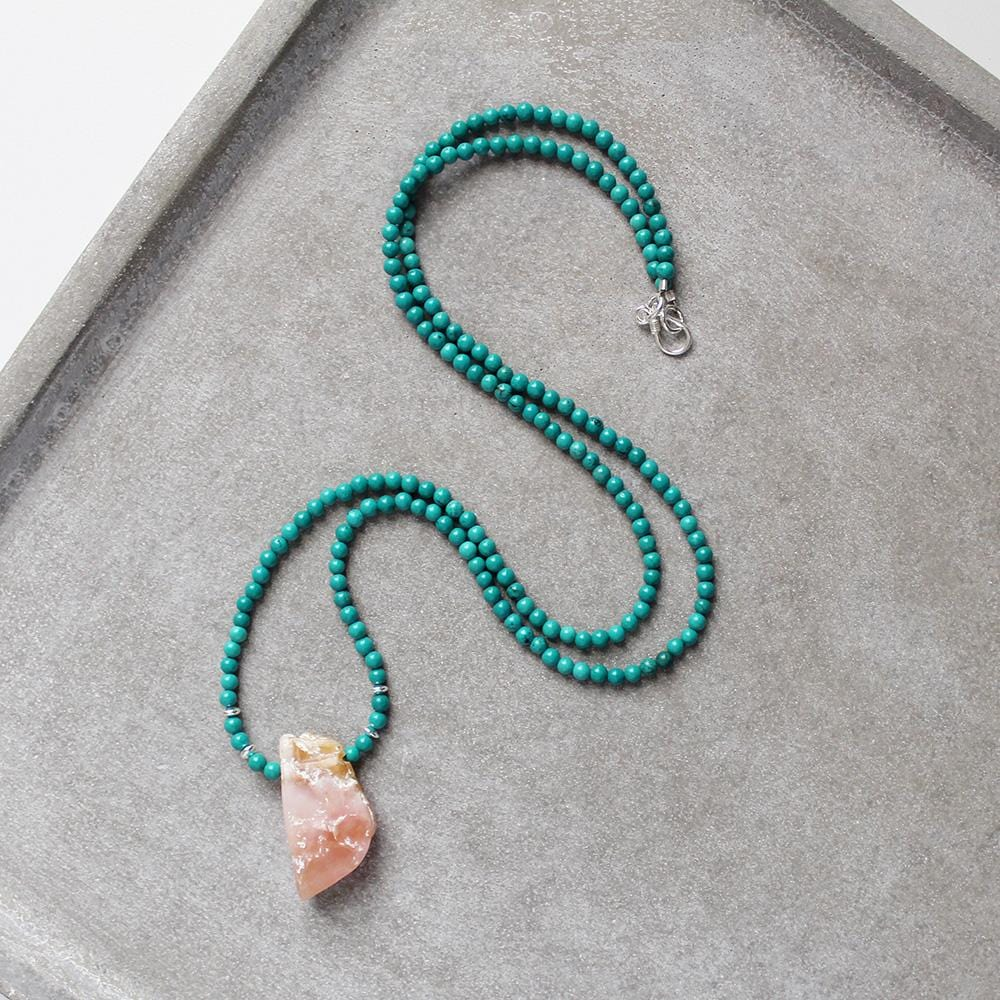 Good Fortune (Turquoise and Pink Opal w_