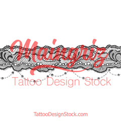 sexy lace garter tattoo design by tattoodesignstock.com