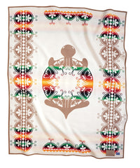 Creation Turtle Pendleton Blanket White