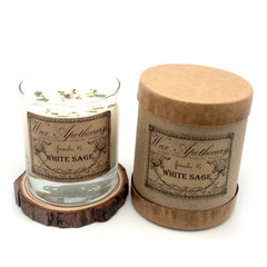 Wax Apothecary - White Sage Botanical Candle in Scotch Glass in Box 7oz