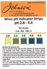 Johnsons WINE pH indicator strips