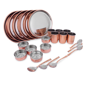 Copy of Crockery Wala And Company Royal Steel Copper Dinner Set 28 pcs