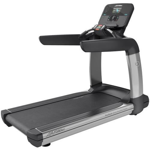 Elevation Series Treadmill with Explore Console with QuickNav Dial in Artic Silver.