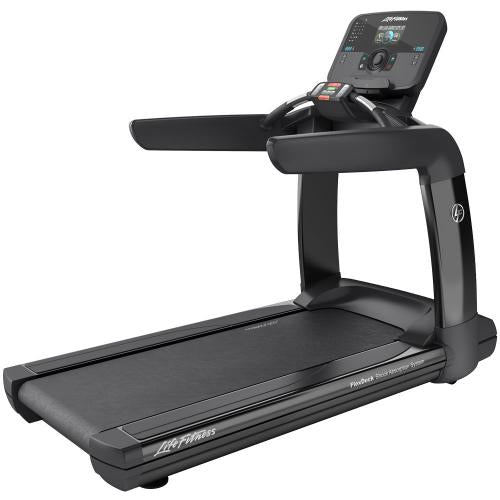 Elevation Series Treadmill with Explore Console with QuickNav Dial in Black Onyx.