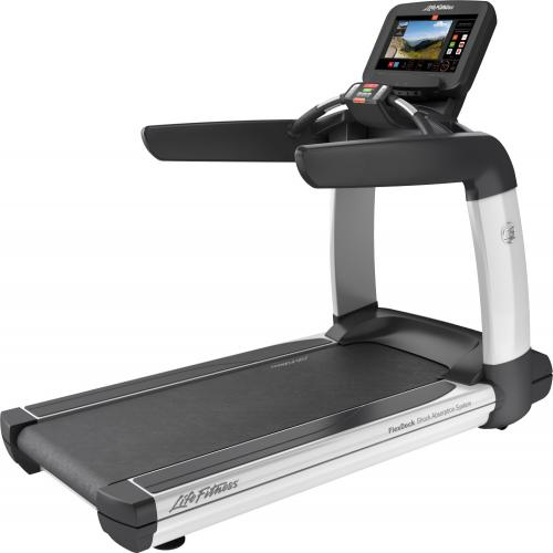 Elevation Series Treadmill with Discover SE3 Tablet Console in Diamond White.