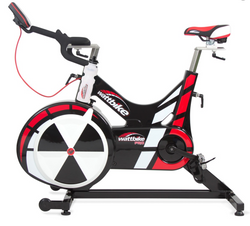 Smart look to red, white and black watt bike.