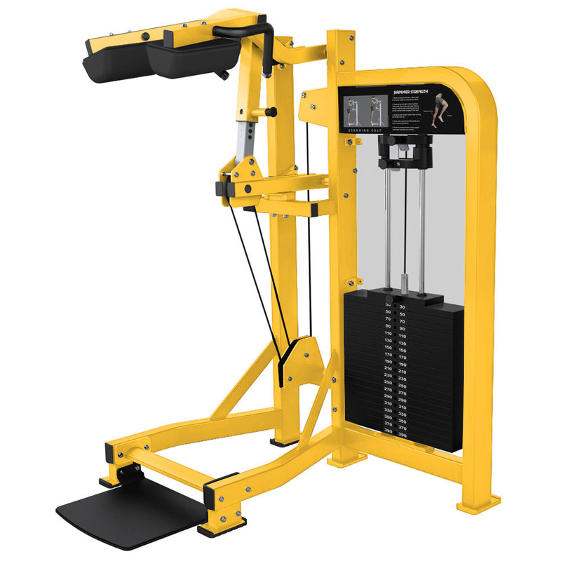 Hammer Strength Select Standing Calf in all yellow.
