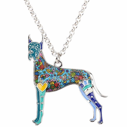 Colorful Great Dane Necklace - Pendant For Dog Lovers