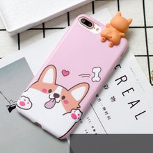 Load image into Gallery viewer, Cute Silicone 3D Corgi Dog Case For iPhone 7, 7 Plus, 8, 8 Plus, X, XS