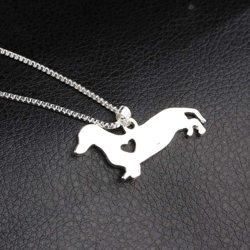 Dachshund Heart Pendant Necklace
