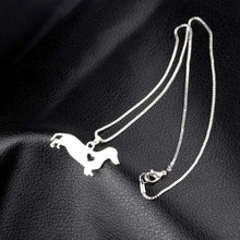 Load image into Gallery viewer, Dachshund Heart Pendant Necklace