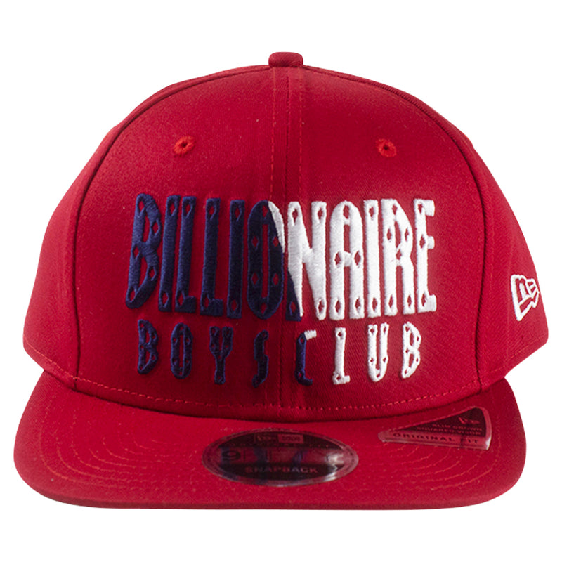 Billionaire Boys Club Red Split Front Snapback Hat