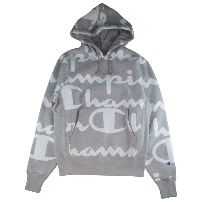 Champion Reverse Weave Pullover Giant CHP Script Grey