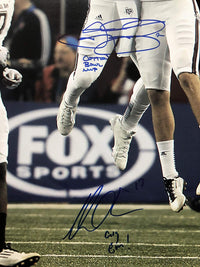 Johnny Manziel Mike Evans autograph 11x14 photo inscribed NCAA Texas A&M Aggies JSA - JAG Sports Marketing