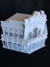 Miniature Old West #1 Saloon/Hotel Built Ready HO Scale Interiors Included White