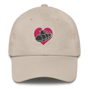 The Sub Heart Hat - Classic ball cap with embroidered design