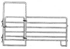 "Combo Panel With Gate - 1 7/8"" Galvanized Tubing"