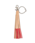 Lipstick Leather Fringe Keychain