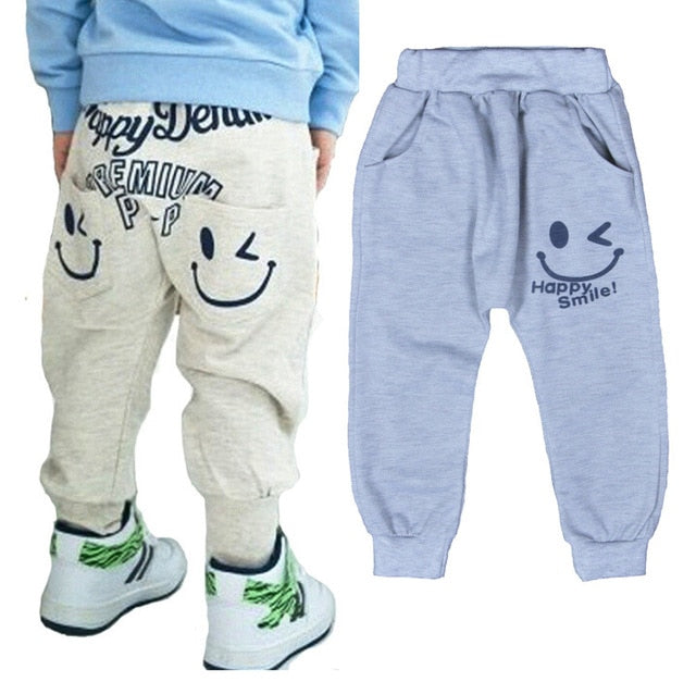 Free Shipping New 2017 Hot Sale Children cotton pants Boys Girls Casual Pants 2 Colors Kids Sports trousers Harem pants