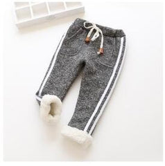 BibiCola Girls Winter Leggings Kids Autumn Winter Pants Baby Girls Boys Thick Warm Trousers Children Girls Christmas Pants
