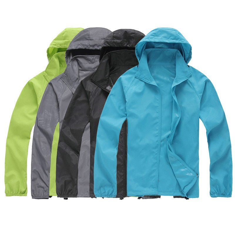Men Women Couples Fashion Thin Light Long Sleeve Coat Ultraviolet proof Sun protective Mountaineering suits