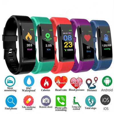 All in one Bluetooth Smart Fitness Bracelet Watch Band