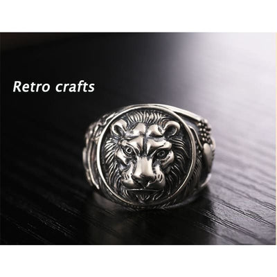 Vintage Retro Lion Ring