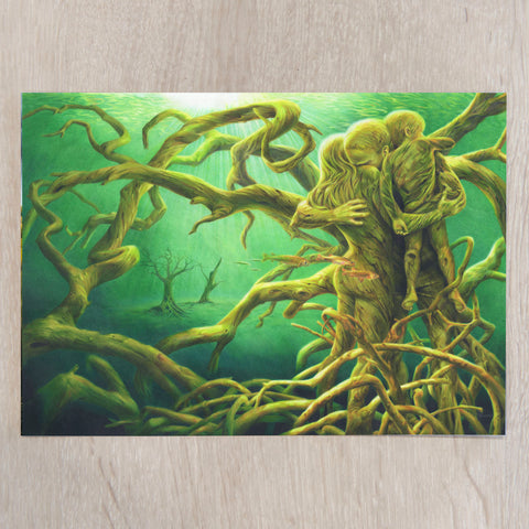 'Forest of the Dammed' A5 art card