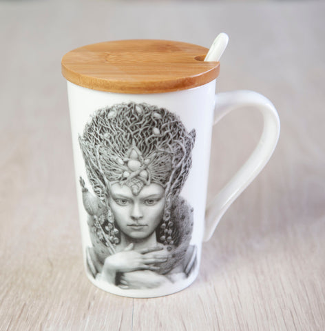 'Christmas Angel' ceramic travel cup