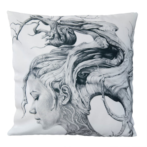 Cushion cover featuring 'Contemplation' artwork