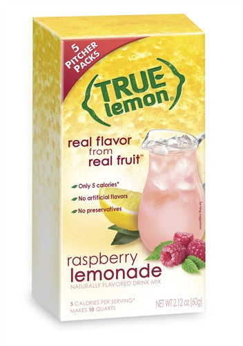 True Lemon Raspberry Lemonade 2 Litre 5-Count