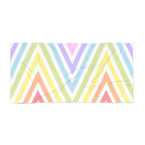 Meander Pastel Rainbow Beach Towel