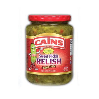 Cains Sweet Pickle Relish - 16oz
