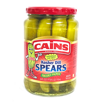 Cains Kosher Dill Spears - 24oz