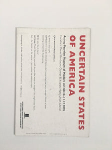 Card from group show 'Uncertain States of America' at Astrup Fearnley Museum of Modern Art, Oslo, Norway