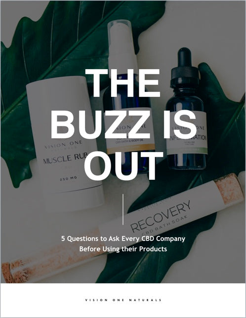 THE BUZZ IS OUT : 5 Questions to Ask Every CBD Company  Before Using their Products - Vision One Naturals