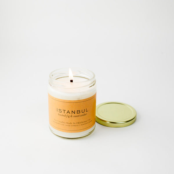 Istanbul Gold Lid Candle