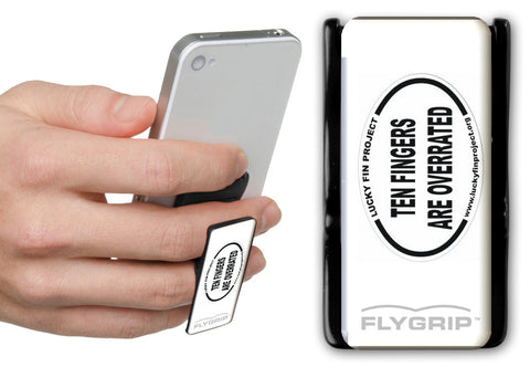 Lucky Fin Project Charity Flygrip Black & White w/FREE CASE