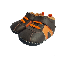 Load image into Gallery viewer, Little Blue Lamb - Brown and Orange Fluffy Sneaker