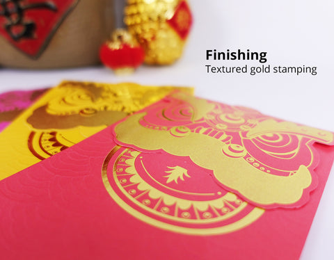texture finishing lion angpau packet